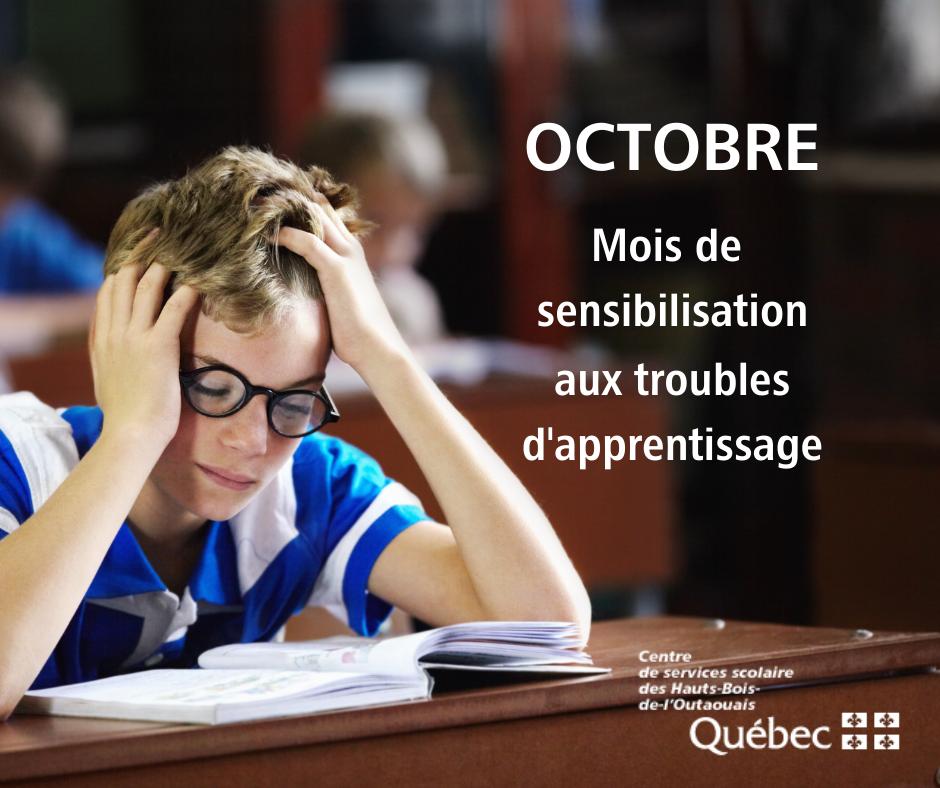 OCTOBRE – Mois de sensibilisation aux troubles d'apprentissage
