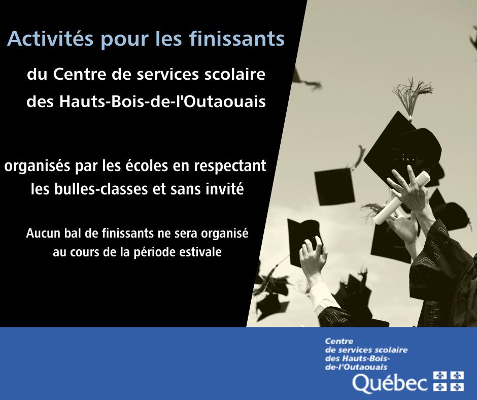 Activités pour les finissants du Centre de services scolaire des Hauts-Bois-de-l'Outaouais